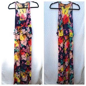 Ella Moss Dresses - Ella Moss Floral Maxi Dress Lined